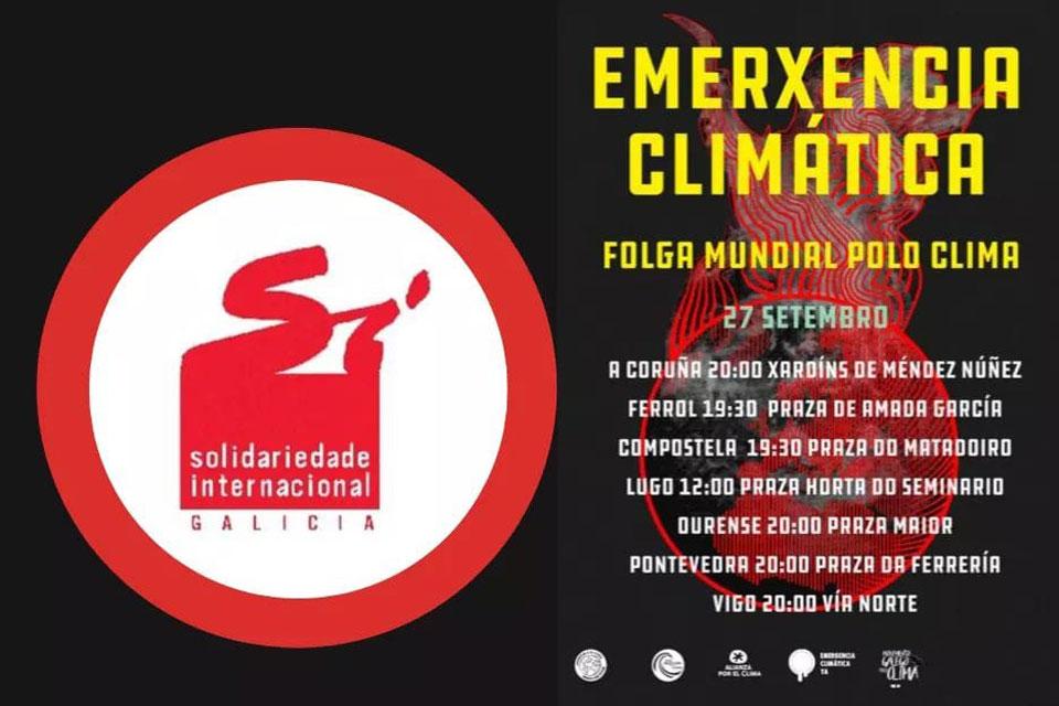 Solidaridade Internacional de Galicia únese á Folga Mundial polo Clima